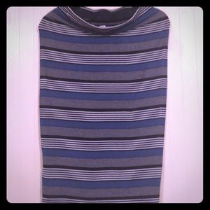 Blue Striped Rayon Skirt from Old Navy
